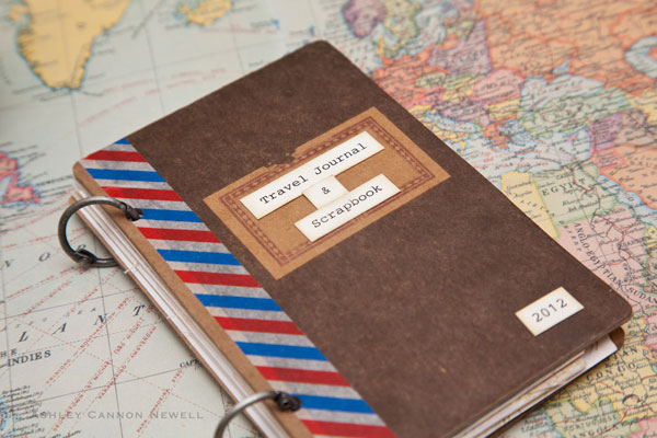 Travel Book Cover Ideas ~ Travel journal scrapbook paper suite