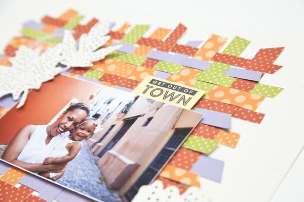 Project by Ashley Cannon Newell for Papertrey Ink - Make It Monday: Paper Weaving Video Tutorial