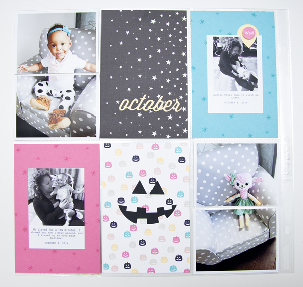 Project by Ashley Cannon Newell for Papertrey Ink (Monthly Moments: October 2014)