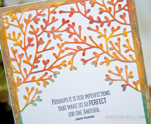 Project by Ashley Cannon Newell for Papertrey Ink (December 2014,  Cover Plate: In the Woods + Love Notes)