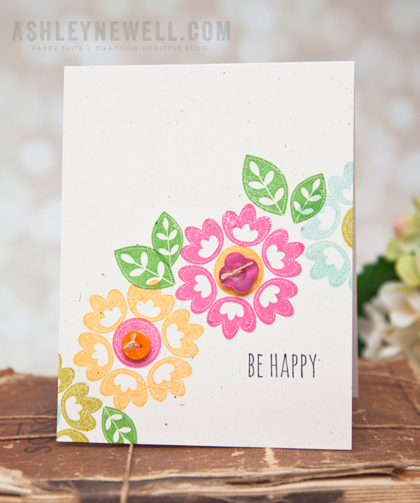 Project by Ashley Cannon Newell for Papertrey Ink (December 2014, Pretty Petals - Freebie set)