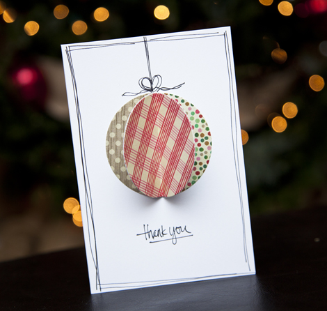 Project by Ashley Cannon Newell for Crate Paper (DIY Handmade Holiday Thank You Notes)