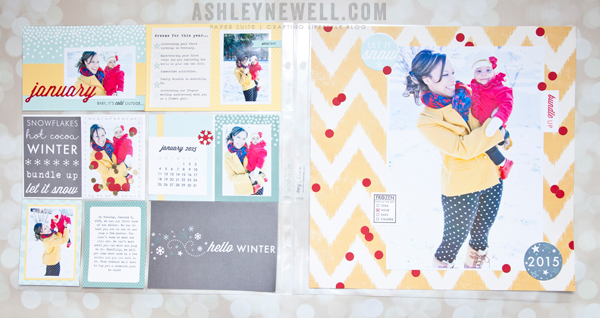 Project by Ashley Cannon Newell for Papertrey Ink (Monthly Moments: January - January 2015)