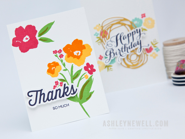 Project by Ashley Cannon Newell for Papertrey Ink (Fussy Cutting Tips - May 2015) #PaperSuite #PapertreyInk #AshleyCannonNewell #Video #FussyCutting