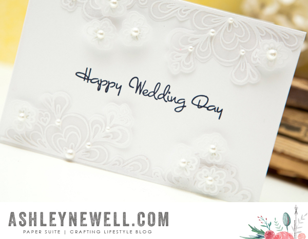 Project by Ashley Cannon Newell for Papertrey Ink (Stamp-a-faire 2015 - Quilled Elegance) #AshleyCannonNewell #PapertreyInk #Stampafaire #PaperSuite