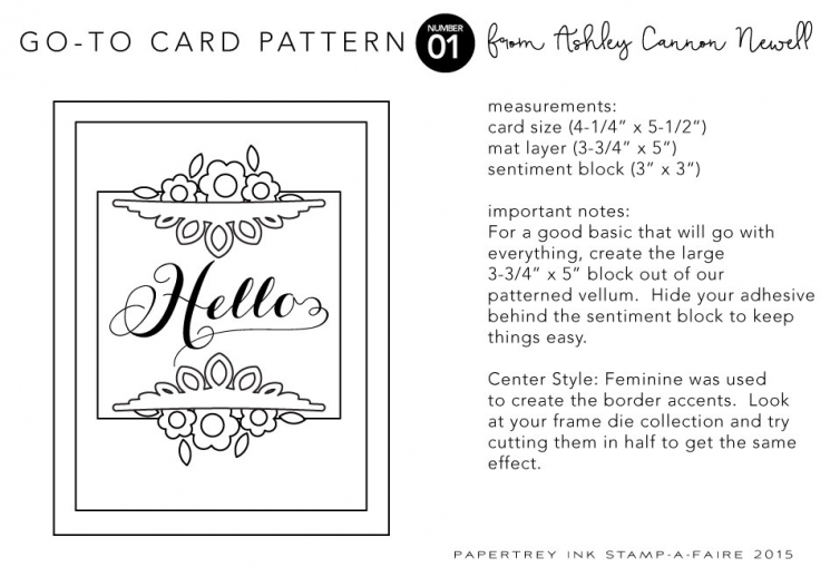 Card Pattern by Ashley Cannon Newell for Papertrey Ink + Stamp-a-faire 2015 #AshleyCannonNewell #PapertreyInk #Stampafaire