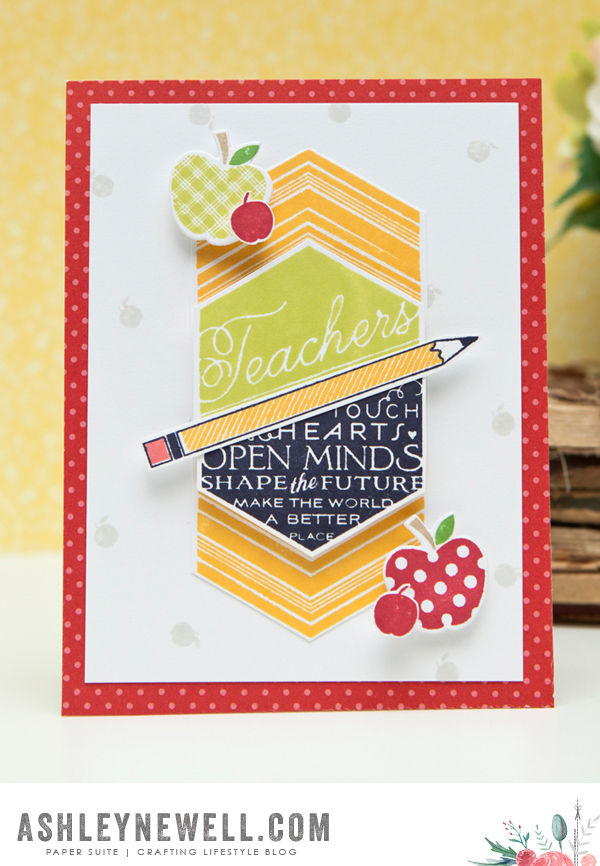 Project by Ashley Cannon Newell for Papertrey Ink + Stamp-a-faire 2015 (August 2015) #PapertreyInk #PaperSuite #AshleyCannonNewell (Teach & Inspire + Back to School)