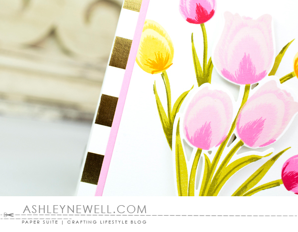 Project by Ashley Cannon Newell for Papertrey ink - February 2016 - Tulip Time - #AshleyCannonNewell #PaperSuite #PapertreyInk