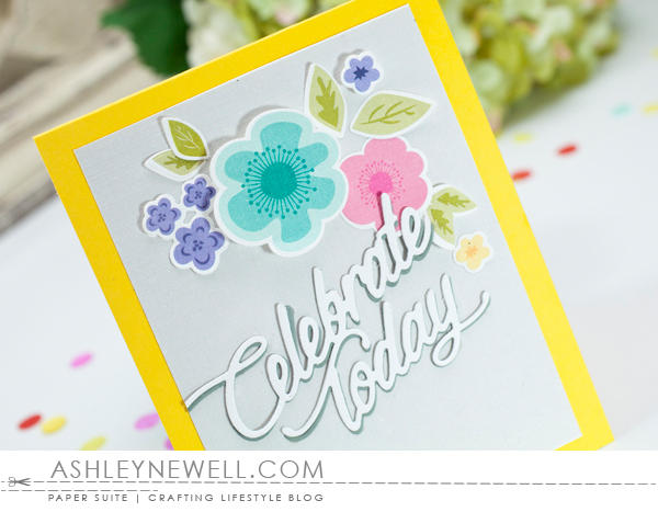 Project by Ashley Cannon Newell for Papertrey Ink - February 2016 - Make It Market Mini Kit: Color Pop Florals - #AshleyCannonNewell #PaperSuite #PapertreyInk