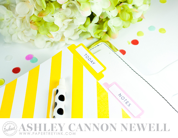 Planner by Ashley Cannon Newell for Papertrey Ink - February 2016 - Moments Inked - #AshleyCannonNewell #PaperSuite #PapertreyInk