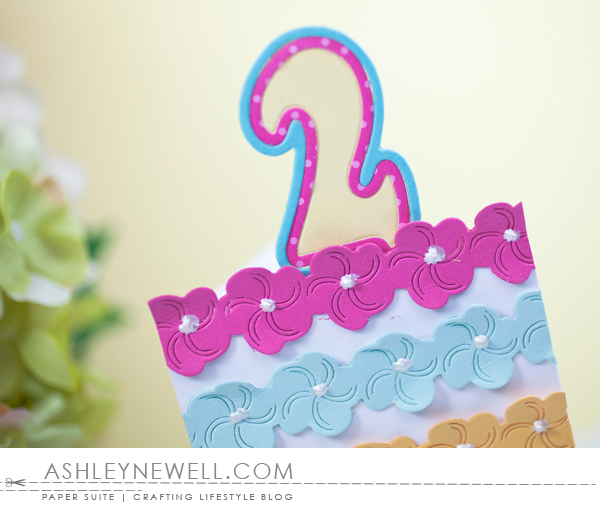 Project by Ashley Cannon Newell for Papertrey Ink - March 2016 - #AshleyCannonNewell #PaperSuite #PapertreyInk - Frosted Borders + Big Birthday Candles