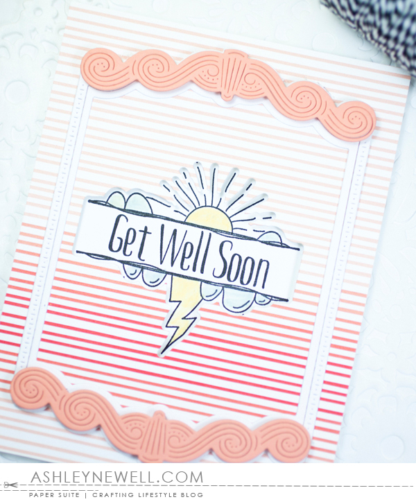 Project by Ashley Cannon Newell for Papertrey Ink - April 2016 - #AshleyCannonNewell #PaperSuite #PapertreyInk - Sentiment Splits: Get Well Soon