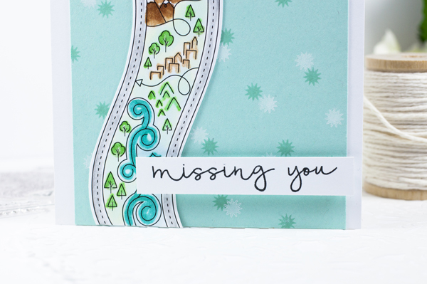 Project by Ashley Cannon Newell for Papertrey Ink - July 2016 - #AshleyCannonNewell #PaperSuite #PapertreyInk #Card - What the Doodle: Map + Keep It Simple: Missing You