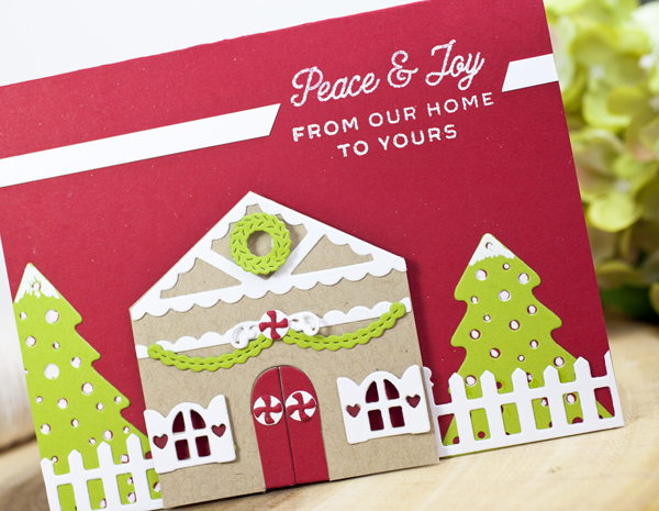 Project by Ashley Cannon Newell for Papertrey Ink - October 2016 - #PaperSuite #PapertreyInk #AshleyCannonNewell - Tiny Town: Gingerbread + Tiny Town: Holiday Yard + Christmas Cuts