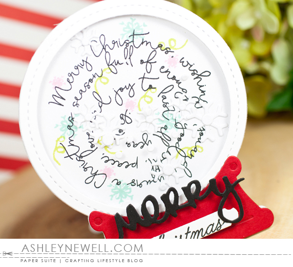 Project by Ashley Cannon Newell for Papertrey Ink - #AshleyCannonNewell #PaperSuite #PapertreyInk - October 2016 - Script Swirls: Christmas