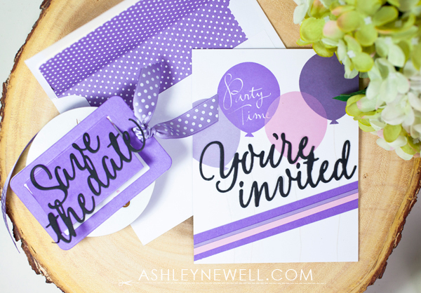 Project by Ashley Cannon Newell for Papertrey Ink - November 2016 - #AshleyCannonNewell #PaperSuite #PapertreyInk - Invitation Basics