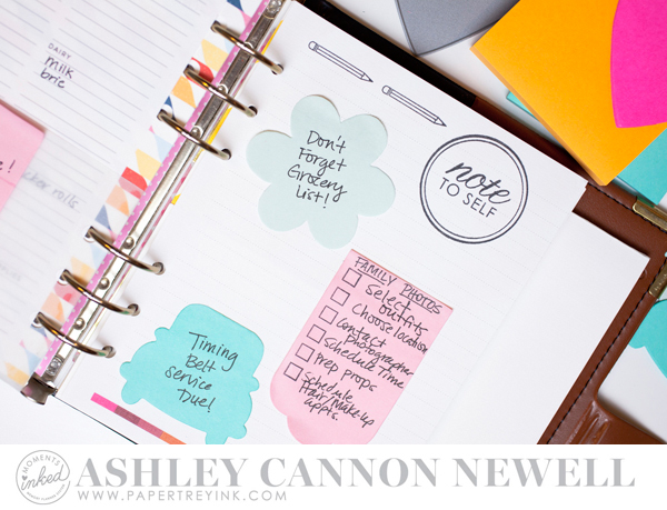 Planner by Ashley Cannon Newell for Papertrey Ink - November 2016 - #AshleyCannonNewell #PaperSuite #PapertreyInk #MomentsInked #Planner #StickyNotes