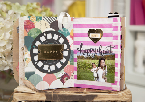 Project by Ashley Cannon Newell for Crate Paper (Mini Album - Open Book)