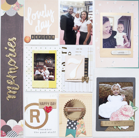 Project by Ashley Cannon Newell for Crate Paper #cratepaper #cratelife #projectlife #scrapbooking